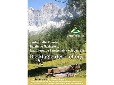 Österreichs Wanderdörfer- Inserat