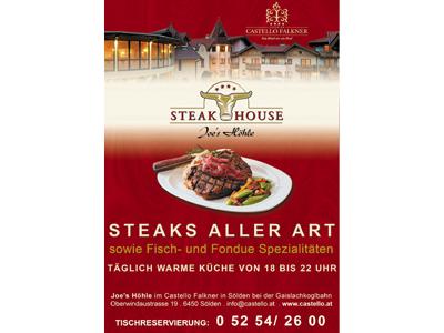 Steakhouse Joe's Hohle - Flugblatt