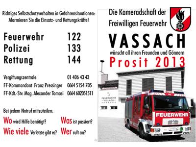 Feuerwehr Vassach - Kalender