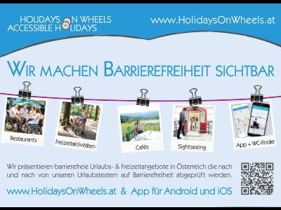 Inserat - Holidays on Wheels
