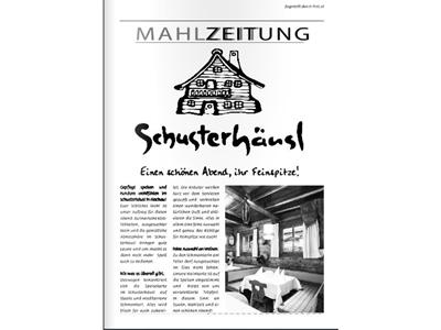 Schusterhäusl Mahlzeitung